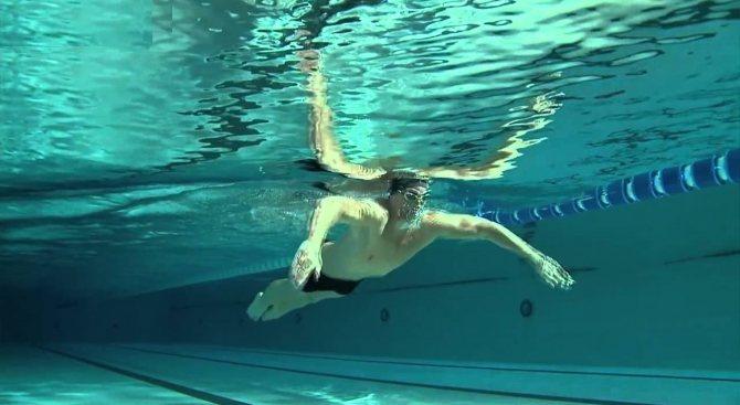 Гребок руками под водой с подтянутыми плечами - залог правильного выполнения техники брасса