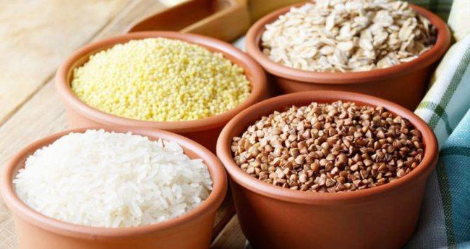 Гречка, рис, овсянка, пшено